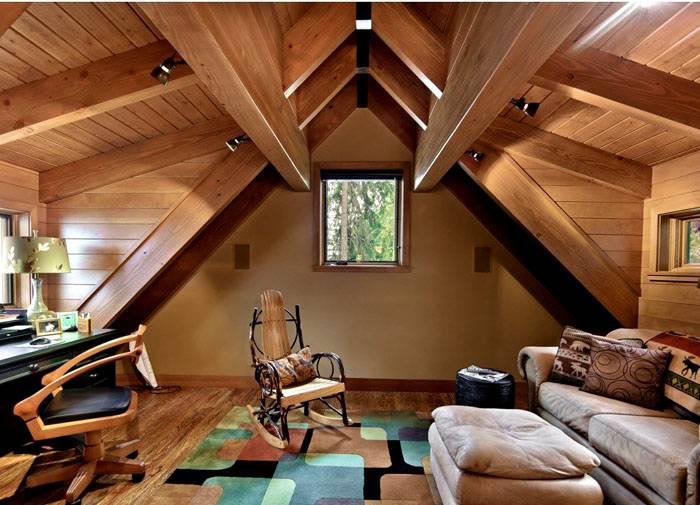 Чтобы комната не казалась тёмной, ставят светлую мебель и используют светлые аксессуары и текстиль