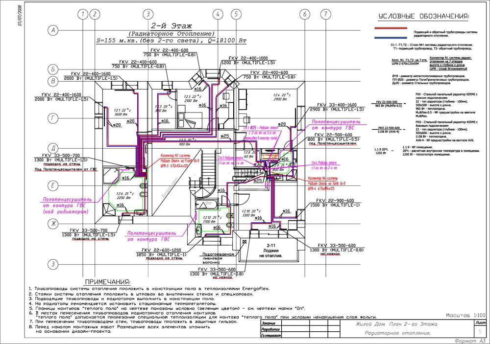План инженерных сетей в доме