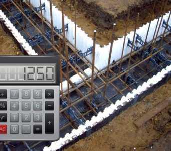 Калькулятор расчета необходимого количества арматуры для ленточного фундамента