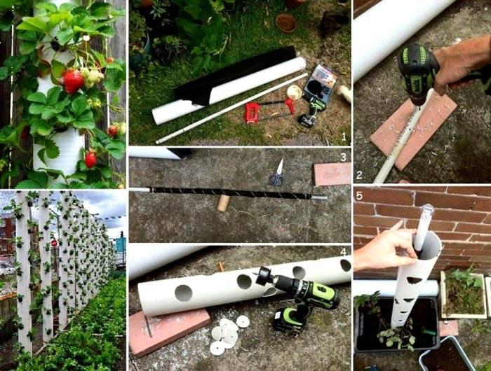 Последовательность изготовления вертикальной конструкции из пластиковой трубы