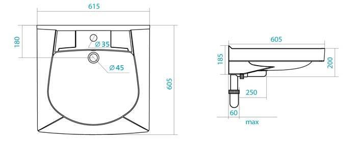 Размер и форма раковин должны соответствовать этому стандарту