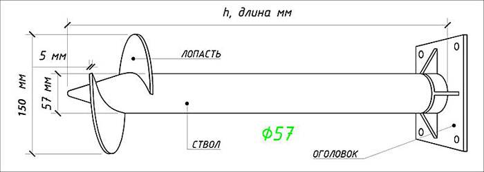 Схема для определения несущей способности свай