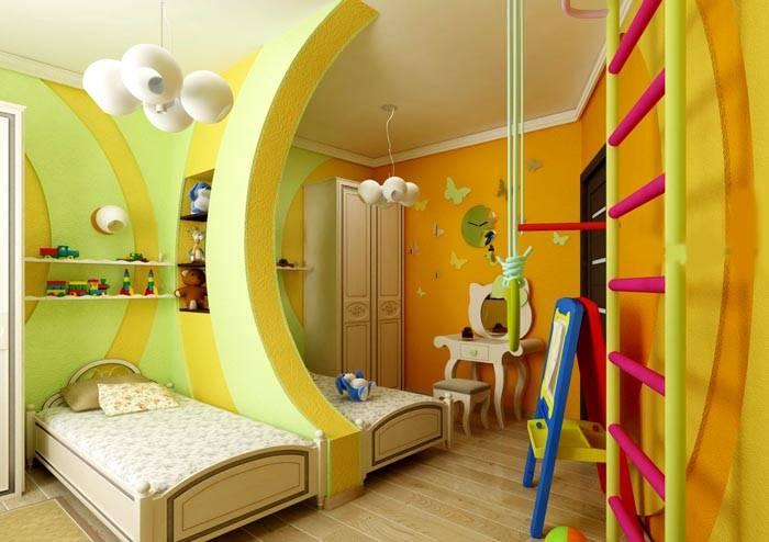 Совмещенный вариант игровой зоны и спальных мест