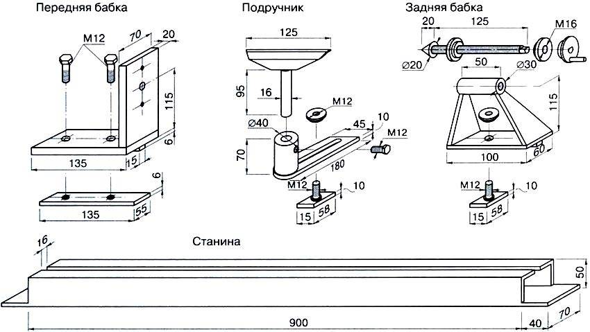 Простейший набор деталей для действующей конструкции