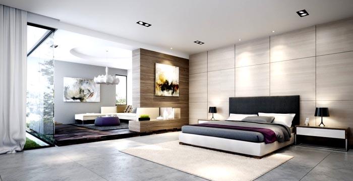 В большом помещении можно разместить дополнительные предметы мебели