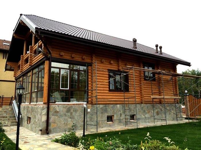 Комбинированный вариант с панорамными окнами