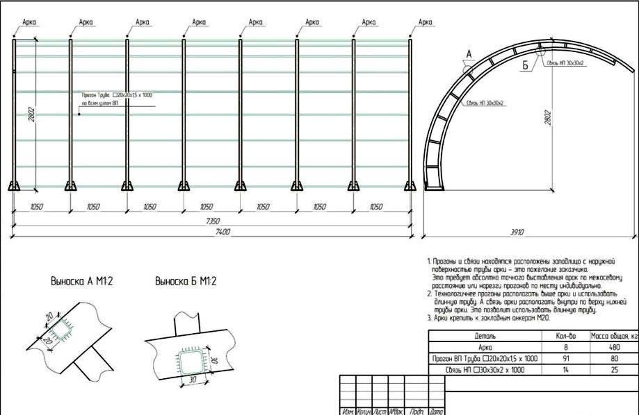 Схема консольной конструкции