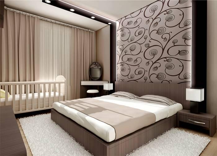 Планировка комнаты с детской кроваткой