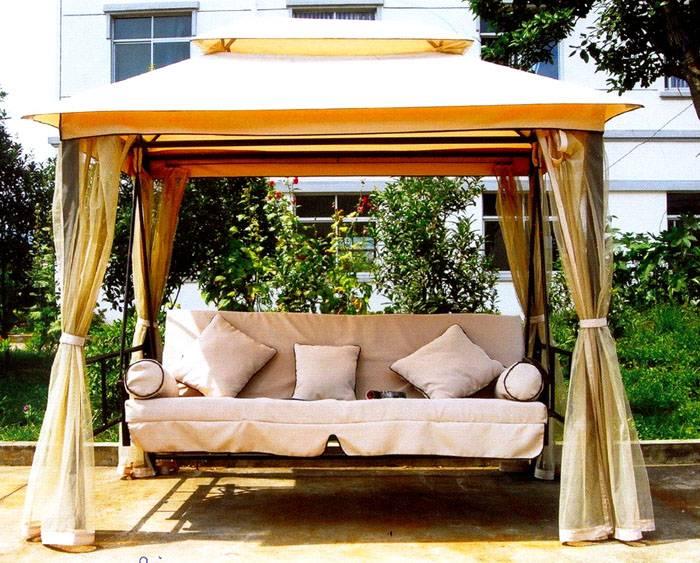 Крупные качели диван со спинкой подходят для детей и взрослых
