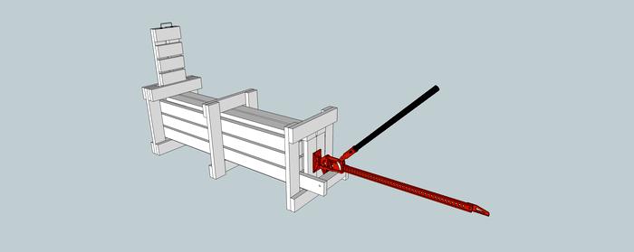 Простейший деревянный пресс для сена – минимум материала и времени на изготовление