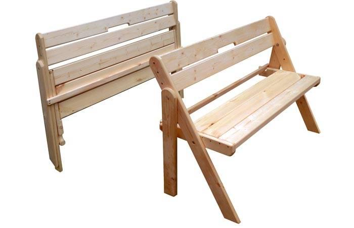 Складная мебель – подходящее решение для беседки