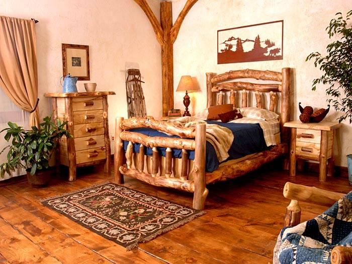 Кровать из подручных средств может быть красивой