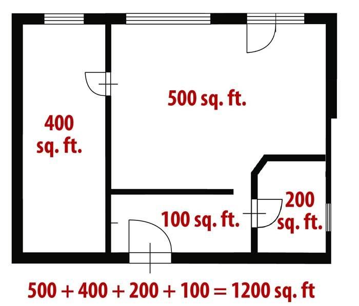 Для перевода из квадратных футов в метры умножаем на 0,093