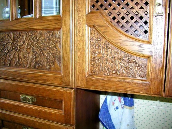 Вариант украшения фасада кухни
