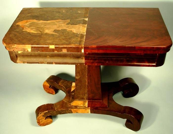 Старую мебель можно отреставрировать
