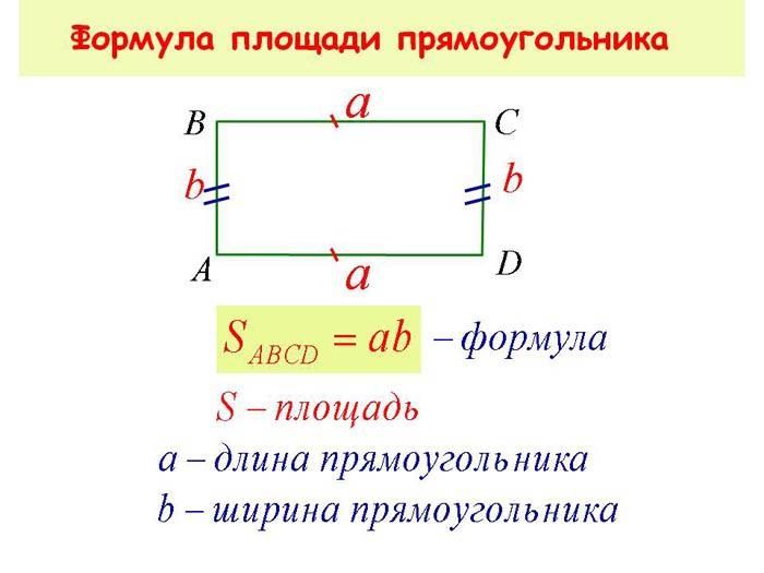 Расчет площадь прямоугольника