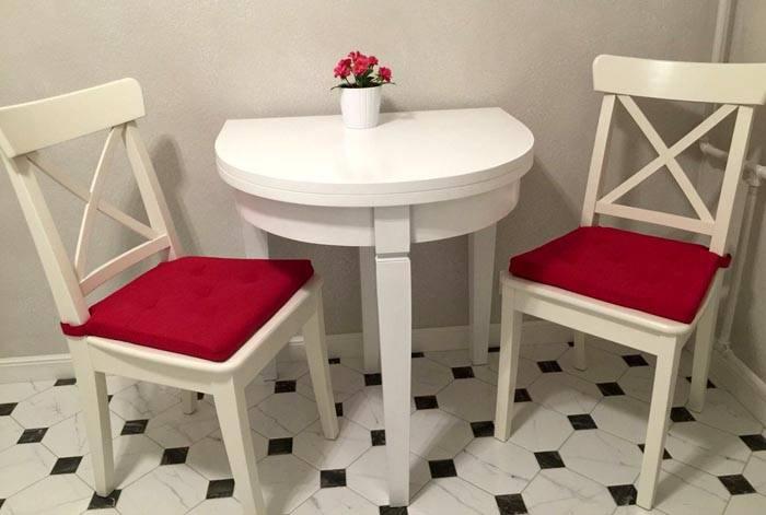 Удобный раскладной кухонный мини стол