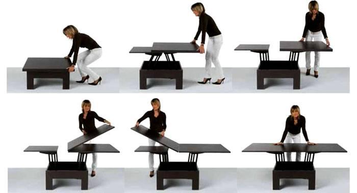 Откидной стол для маленькой кухни и его преимущество
