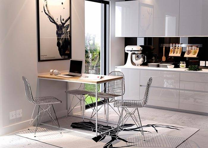 Кухонные металлические небольшие стулья
