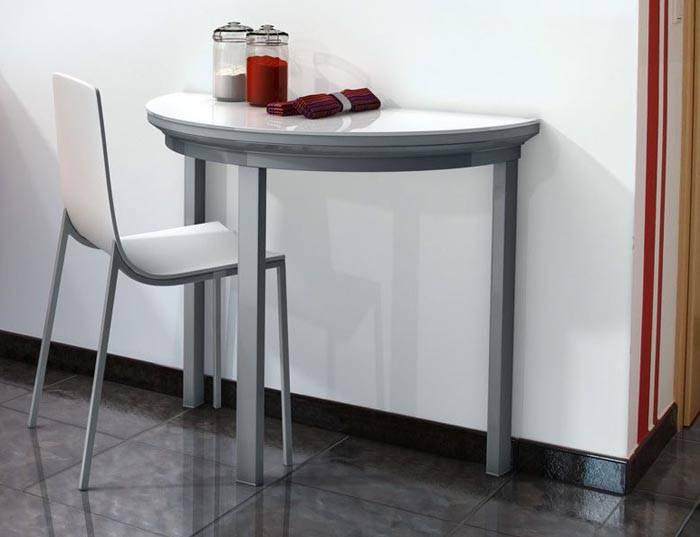Маленький кухонный стол в стиле хай-тек