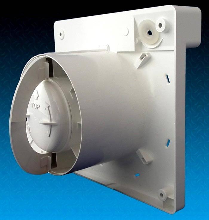 Секторный аналог из пластика, установленный за крыльчаткой электровентилятора