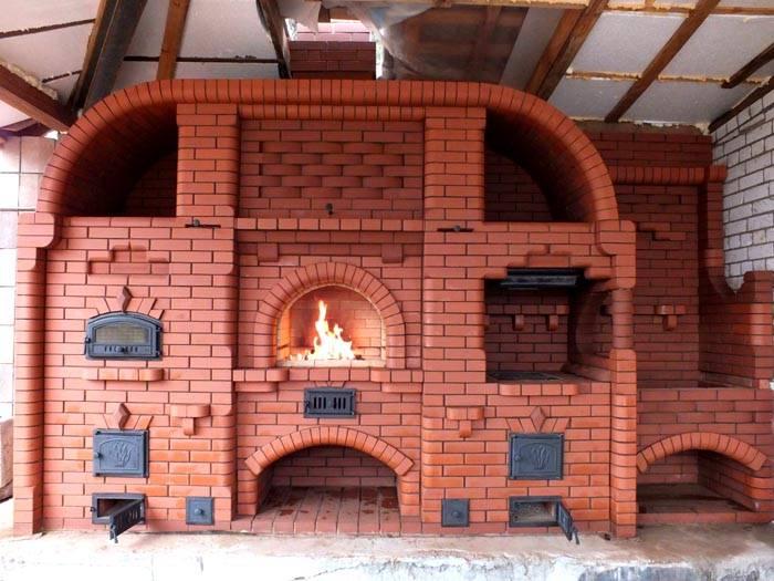 А это уже готовая печь, поражающая своей эстетичностью