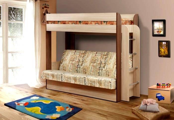 Эргономичный гарнитур с раскладным диваном
