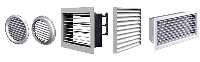 Вентиляционную решетку с клапаном подбирают с учетом размеров и формы канала
