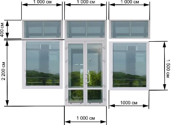 Стандартные размеры остекления входной двери в офисное помещение