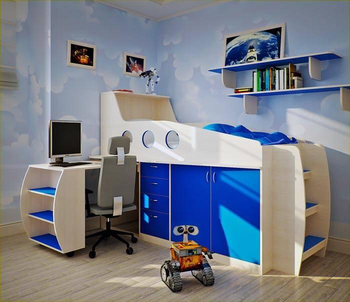 Космическая тематика для комнаты мальчика