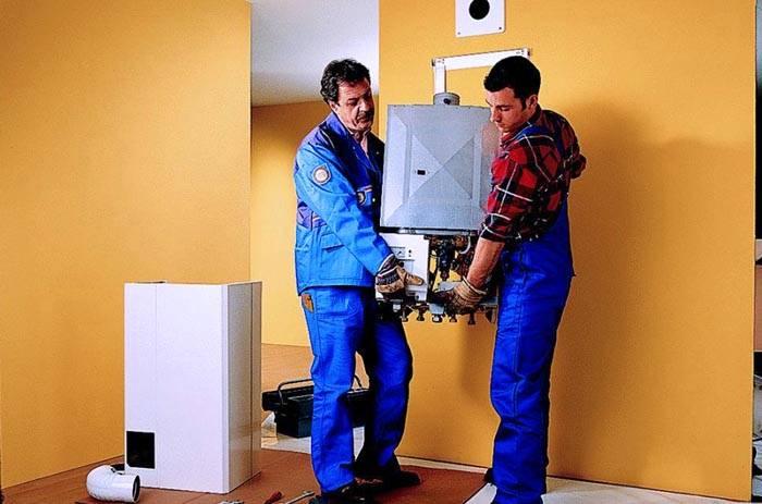 Демонтаж и замена газового котла