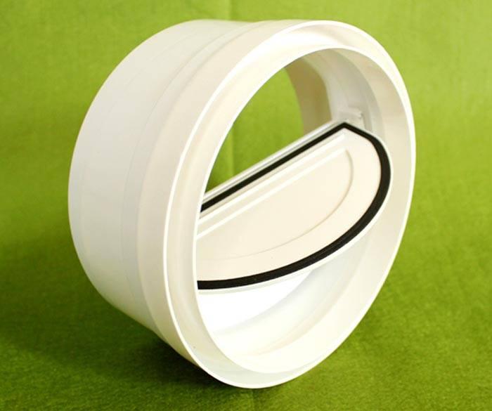 Пластиковый клапан «бабочка» с резиновыми уплотнительными элементами