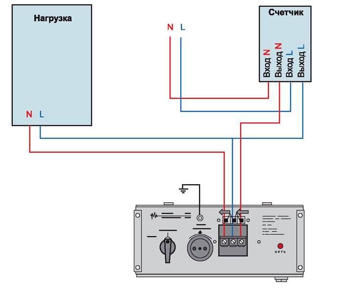 Схема подключения стабилизатора к газовому котлу