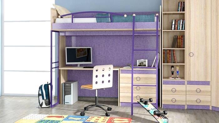 Модель индиго идеально впишется в комнату подростка
