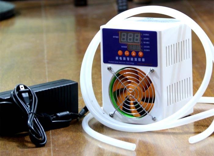 Для снижения температуры проточной жидкости можно приобрести специализированный аппарат