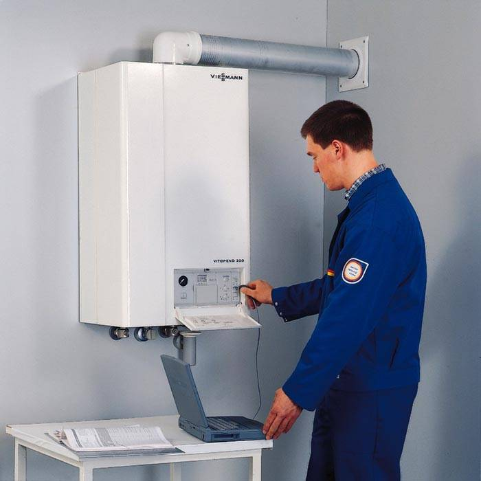 Производится ремонт электронного блока газового котла