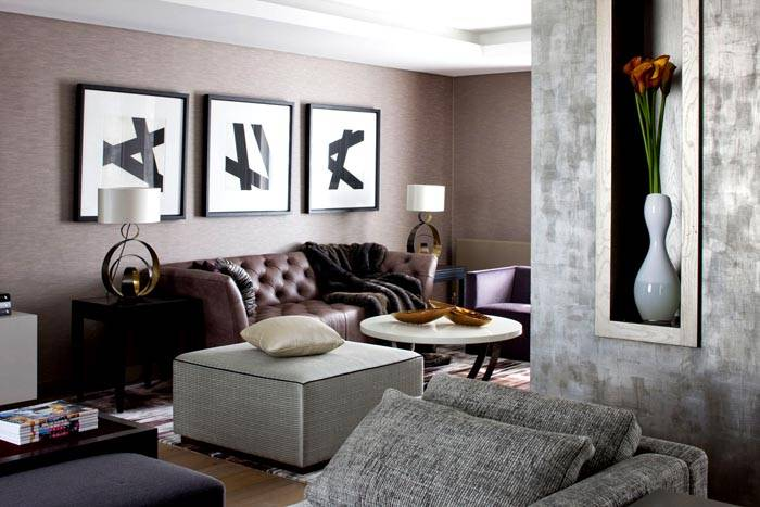 Конструктивизм – красивое решение для гостиной