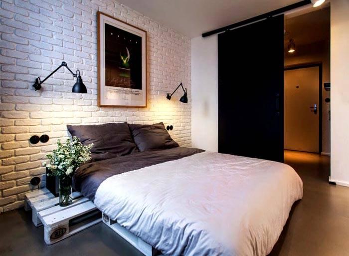 Клинкер для отделки спальни