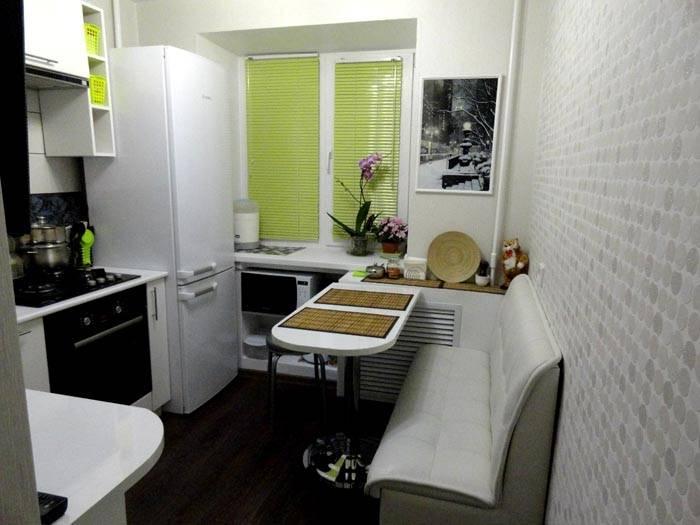 Стильный дизайн кухни 7 кв м