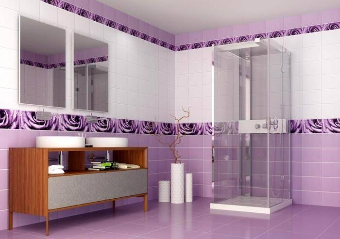 Отделка ванной панелями ПВХ. А кажется, что на стенах плитка