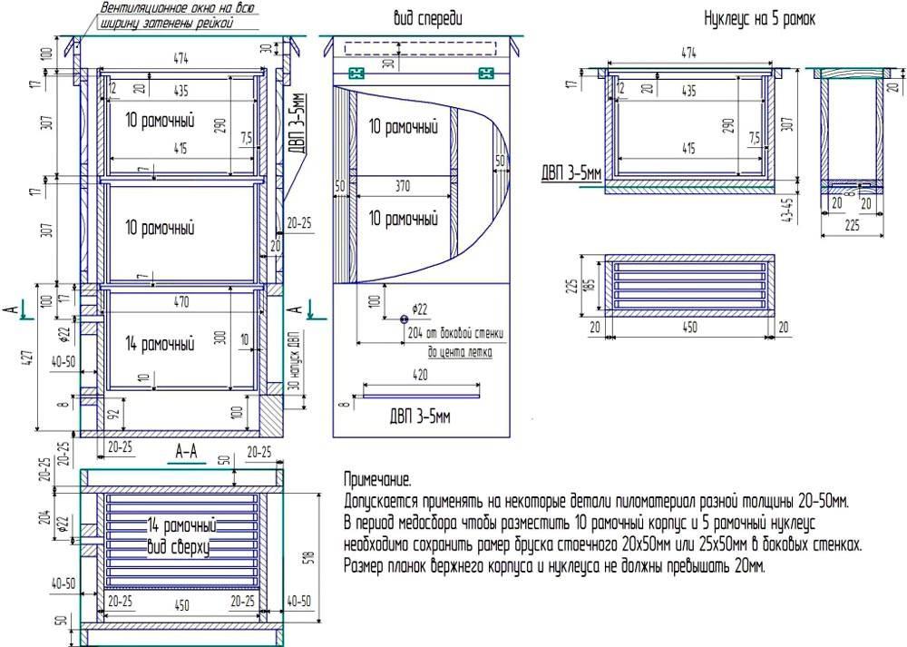 На рисунках можно делать примечания, которые описывают особенности материалов, сборки, иные важные нюансы