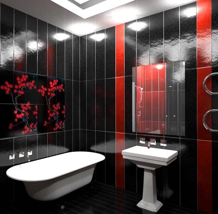 Ванная комната в темных тонах – довольно необычное решение