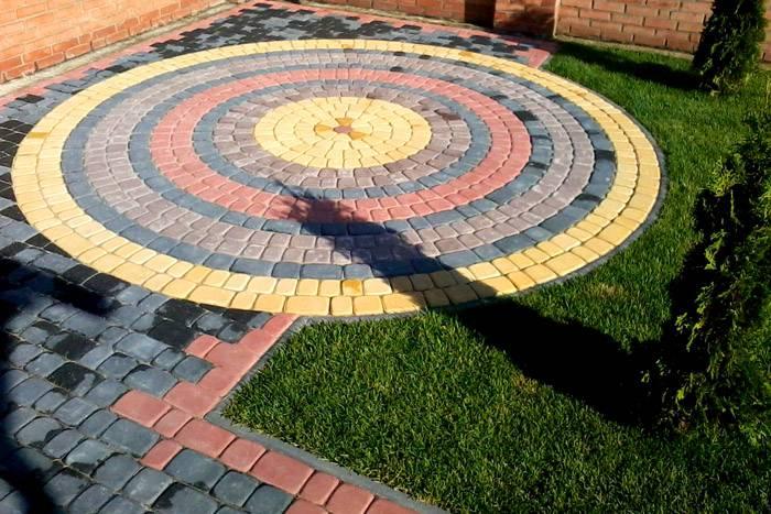 Как благоустроить территорию с помощью тротуарной плитки: узоры из брусчатки