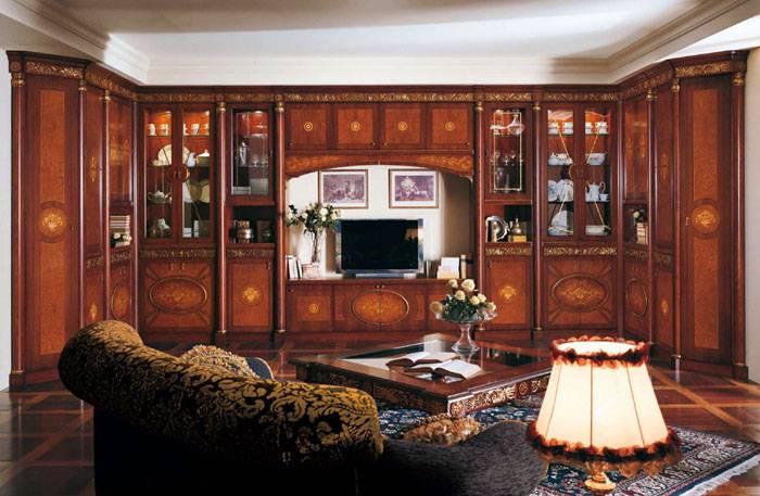 Корпусная мебель украшается декоративными элементами