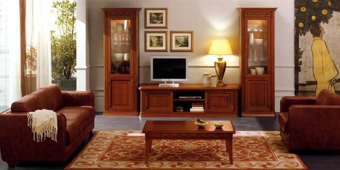 Для изготовления мебели в классическом стиле используются натуральные материалы
