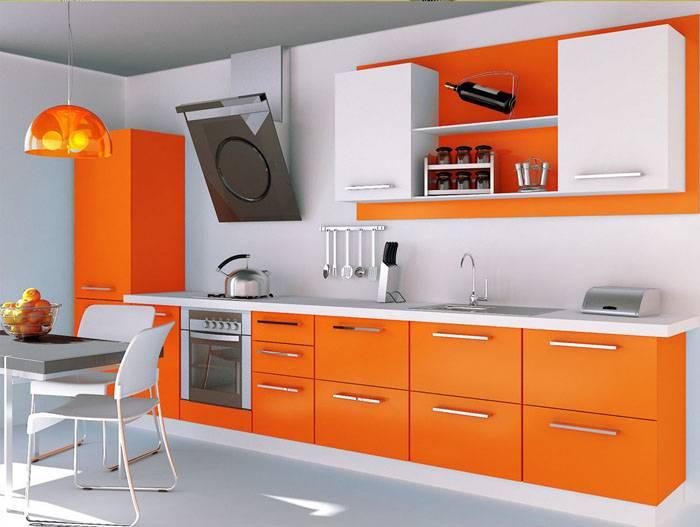 Кухня из ЛДСП с фасадами из постформинга