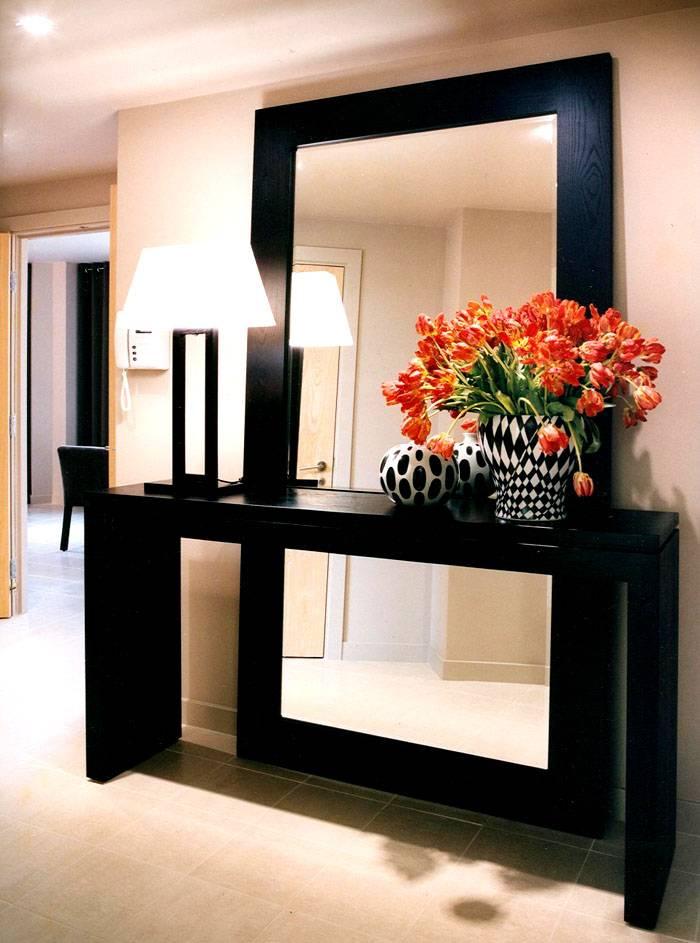Крепление зеркала перед туалетным столиком