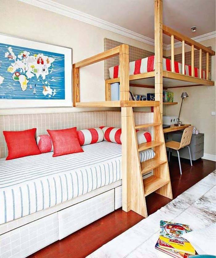 Фото кровати-чердака для мальчиков