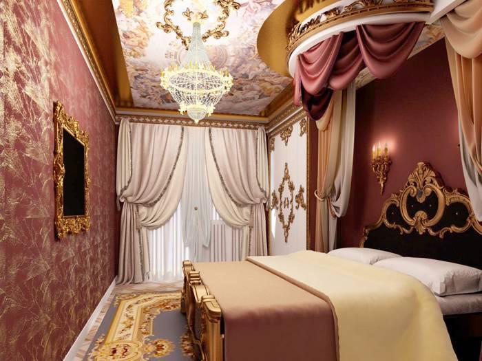 Использование этого материала может придать обычному помещению дворцовую роскошь
