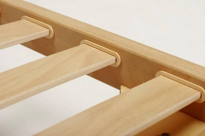 Ламельное основание улучшает демпфирующие характеристики, снижает нагрузки на силовые элементы мебели